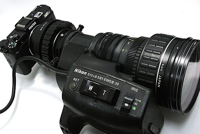 写真9 エクステンダーはONにしなくても、像がくるがENGビデオカメラの2/3インチセンサーより小さいので35mm換算では5倍ほどになる