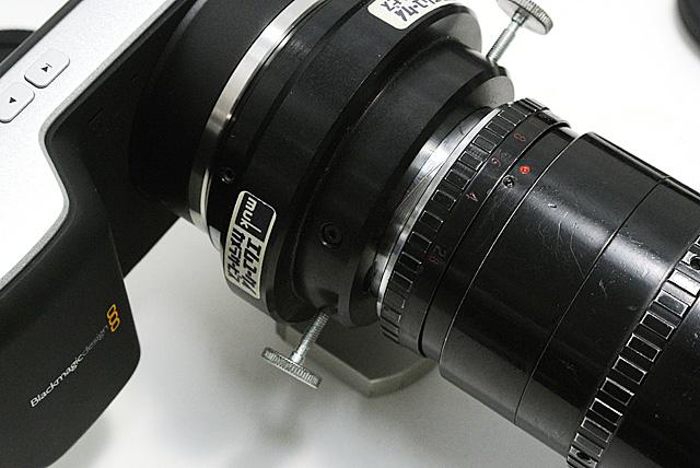 写真9 エクステンダーとして機能するためにブランジバックを延長した状態で固定している
