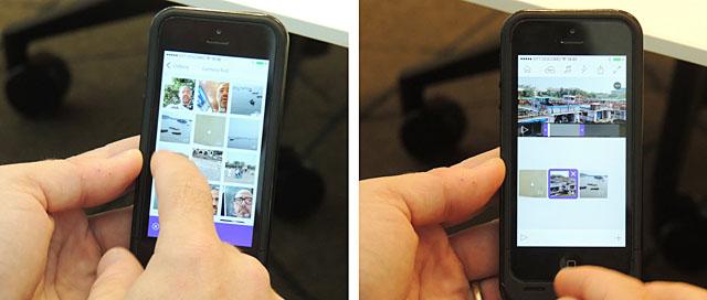 iPhoneまたはiPad上で簡単に動画編集が行える「Premiere Clip」。ムービーデータを選んだ順番でシーケンスを作って、順番が気に入らなかったらスワイプして外すなどの簡単操作で編集できる。ショットの長さが気に入らなかったらトリミングも可能