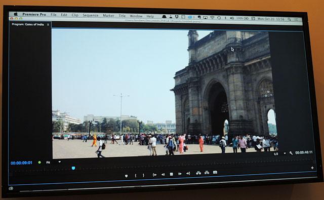 ロバーツ氏がYouTubeに『Gates of India』のタイトルでアップしている「インド放送機器展 Broadcast India 2014」のために訪れていたインドの様子も、「Premiere Clip」で編集されている