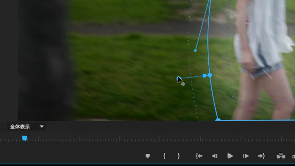 図3 マスク境界の拡大縮小やぼかしがプログラムモニター内で調整可能