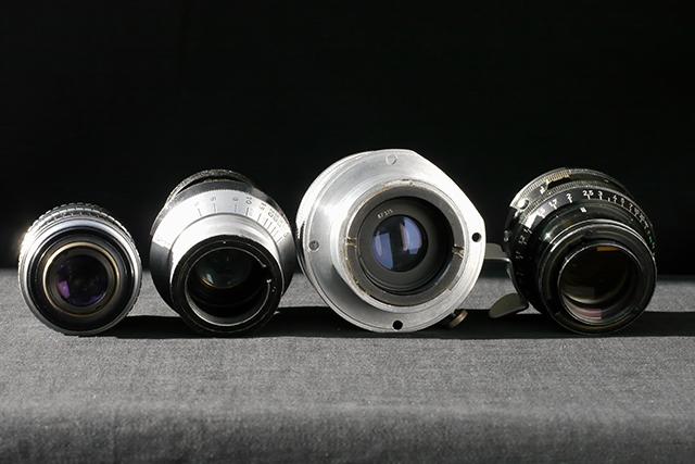 写真2 左から、C、アイモ、ミッチェル、アリフレックスマウントのレンズ