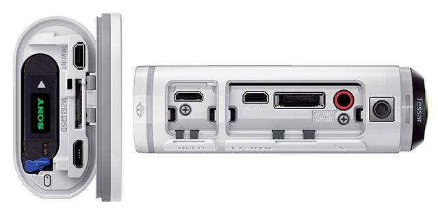 FDR-X1000VのHDMI出力端子とマルチ/マイクロUSB端子は、カ... FDR-X100