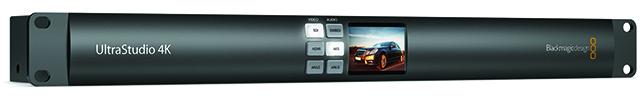 UltraStudio 4K。Blackmagic DesignのUltraStudio 4Kは、I/FがThunderboltのBOB。10ビット処理、UHD、DCIそれぞれ60pをサポートする。4Kインターフェースは、Dual 6G SDI(4:2:2/60p、4:4:4/60p)、HDMI1.4b(YUV4:2:0/24p)だ