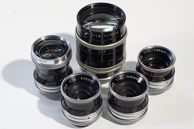 写真1 スイターシリーズ。左端から反時計回りに10mm、16mm、16mm、25mm、75mm