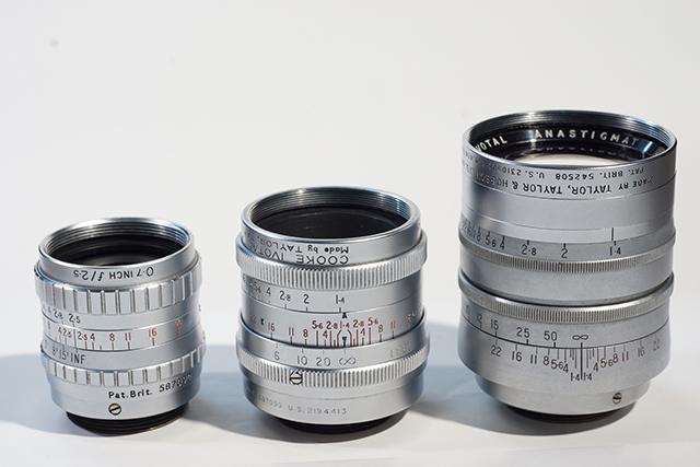 写真4 アイボタールシリーズ。左から0.7インチ、1インチ、2インチ