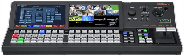 別売りの専用コントローラーV-1200HDR。HDMI入力も装備し、液晶ディスプレーをソースモニターーとしても使用できる。外形寸法は幅 514×高さ105.3×奥行236.5mm、質量は4.3kg