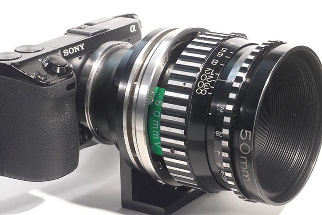 写真24 オリジナルのBNCマウントにツァイス50mm F1.4を装着し、NEX-7で撮影