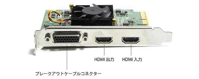 写真4 Intensity Pro 4Kカード。HDMIとアナログビデオ/オーディオしかないとてもシンプルな入出力構成だ