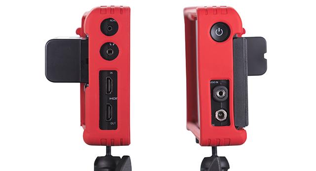 両サイドパネルには電源ボタンと入出力端子が割り振られている。HDMIはタイムコードやレックトリガーにも対応。オーディオ入出力はステレオミニ、そのほかLANC、DC入力、ヘッドホン出力を備える