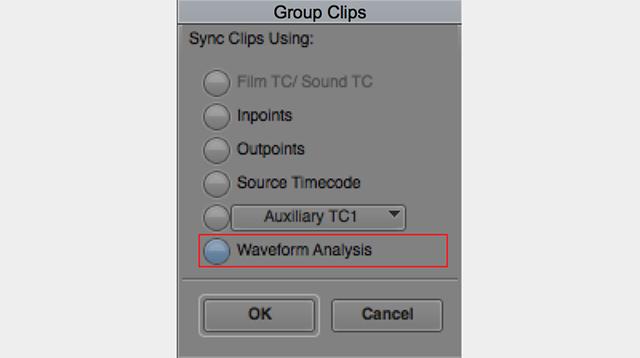 図8 マルチカメラ編集に使用するグループクリップの作成方法に、オーディオ波形解析が加わった