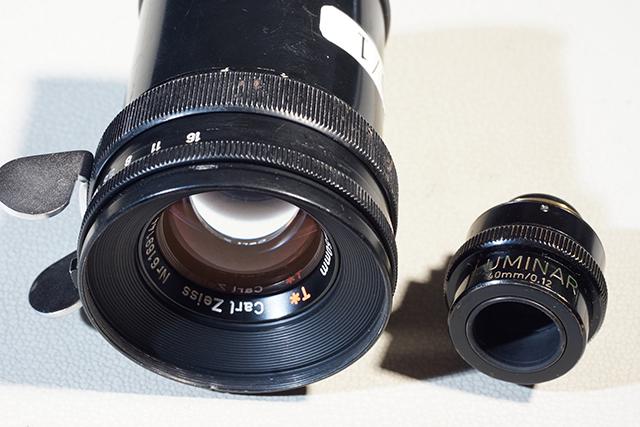 写真6 ルミナーの40mm(右)と50mm(左)