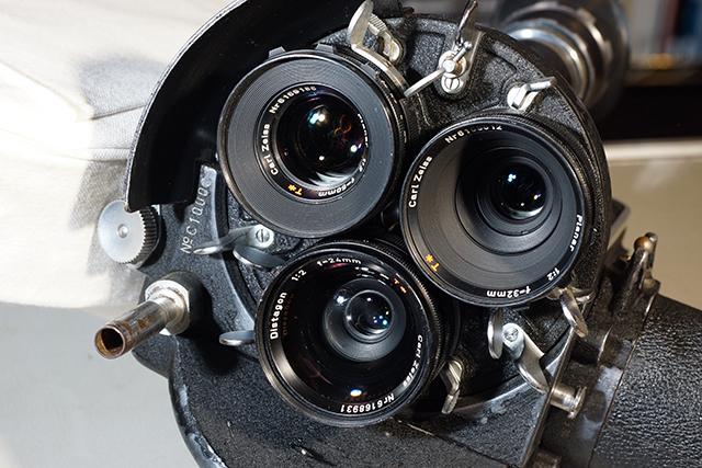 写真8 アリフレックス35ⅡCに、24mm、32mm、50mmを装着