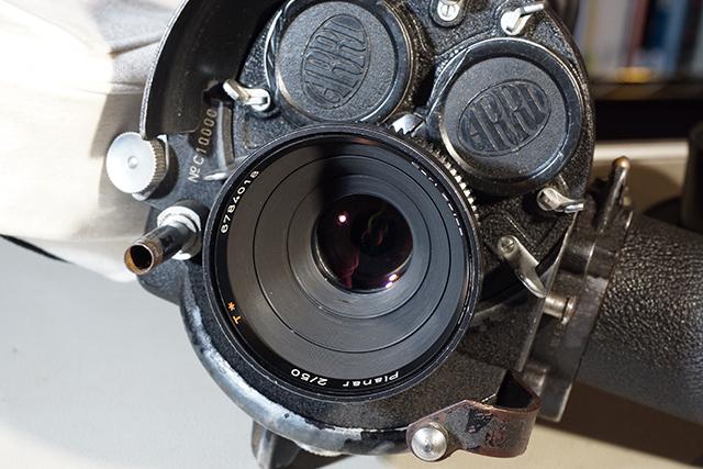 写真12 アリフレックス35ⅡCに50mmを装着