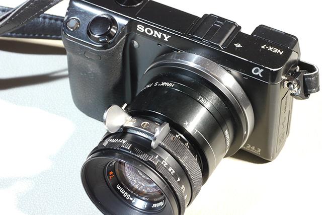 写真16 NEX-7にスタンダードマウント50mmを装着