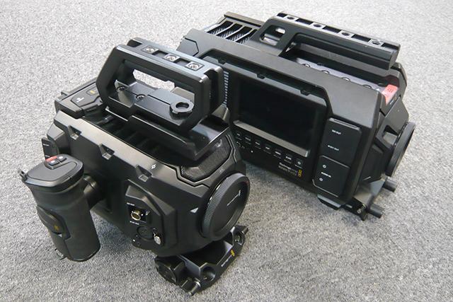 写真3 手前がURSA Mini 4K EF、奥がURSA。URSA MiniにはURSAのすべてが凝縮されている