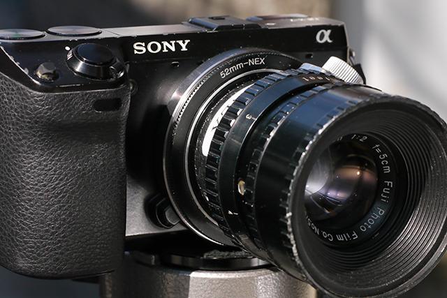 写真6 NEX-7にシネフジノン50mmを装着