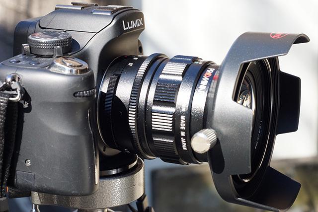 写真14 GH1にプロミナー8.5mmを装着