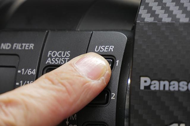 写真21 「AUTO REC」を割り当てたユーザーボタンを押すことで、AG-DVX200からSHOGUNのRECコントロールが可能になる