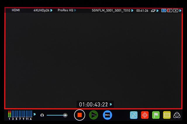 写真25 4K 24pの信号をSHOGUNに入れると、UHD24pとして記録されてしまう