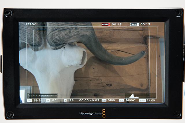 写真13 256Gバイトで4.6KのRAW4:1を60pに設定すると約13分撮影できる