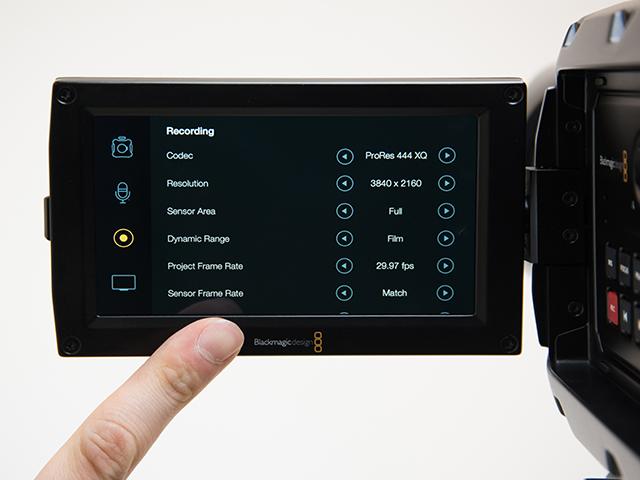 写真14 撮影できるコーデックはいまのところRAWと圧縮RAWに加え、ProResの6種類。豊富な選択肢といえる