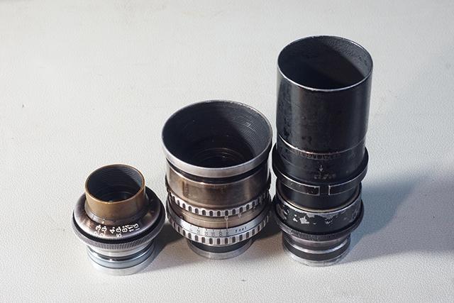 写真4 アイモマウントの3本。左から35mm、50mm、75mm
