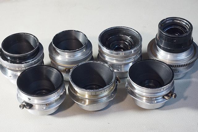 写真5 ミッチェルマウントの7本。左下から25mm、25mm、30mm、左上から35mm、35mm、50mm、75mm