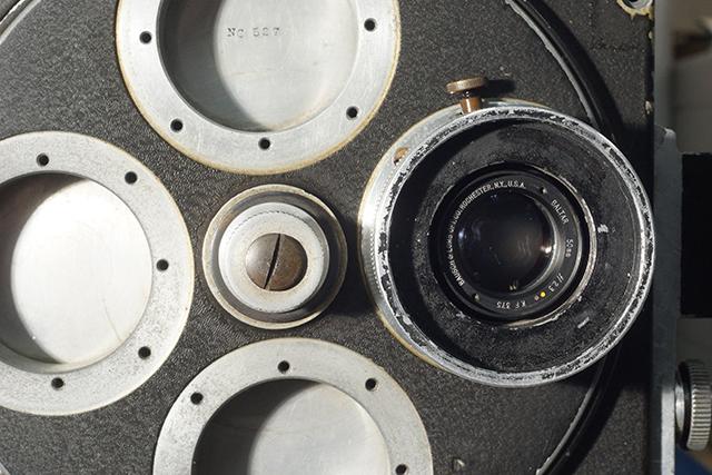 写真20 ミッチェルNC527の4本ターレットに固定された50mm