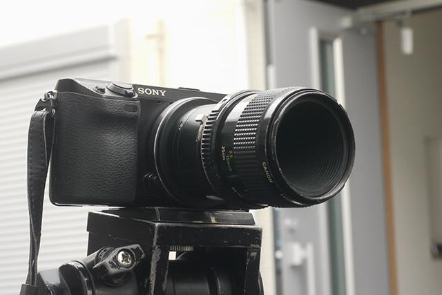 キヤノン50mm F3.5[No.33162]、絞り羽根6枚、アリマウントに改造(フルサイズ用)